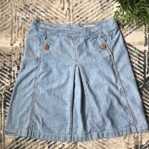 A-Line Soft Denim Skirt